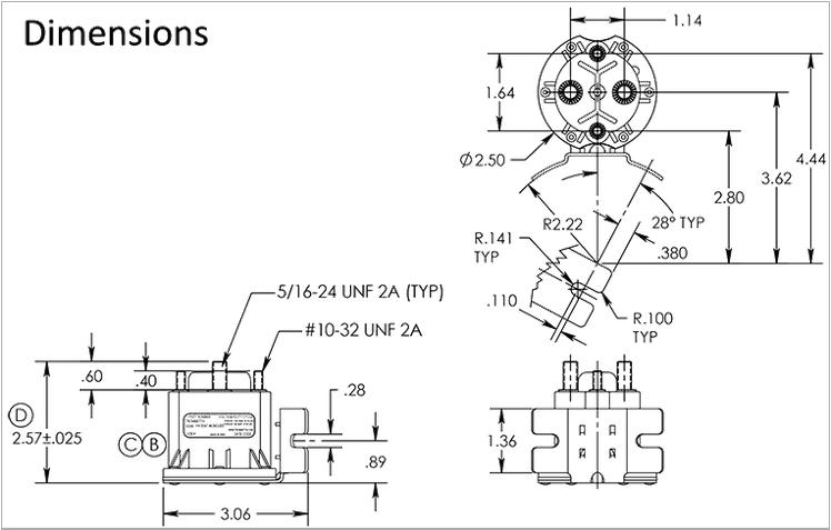 trombetta 12v-24v dc contactor with 250a interrupt capability