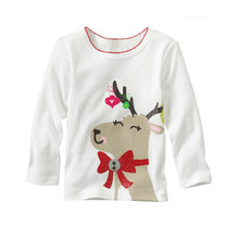Bulk Wholesale Baby Cotton Clothing Long Sleeve White T-shirt Girls Undershirts