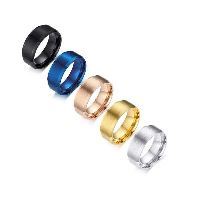 d1389e4e666f 2018 venta al por mayor 316L hombre blanco anillo de oro bandas de boda  hombres aniversario