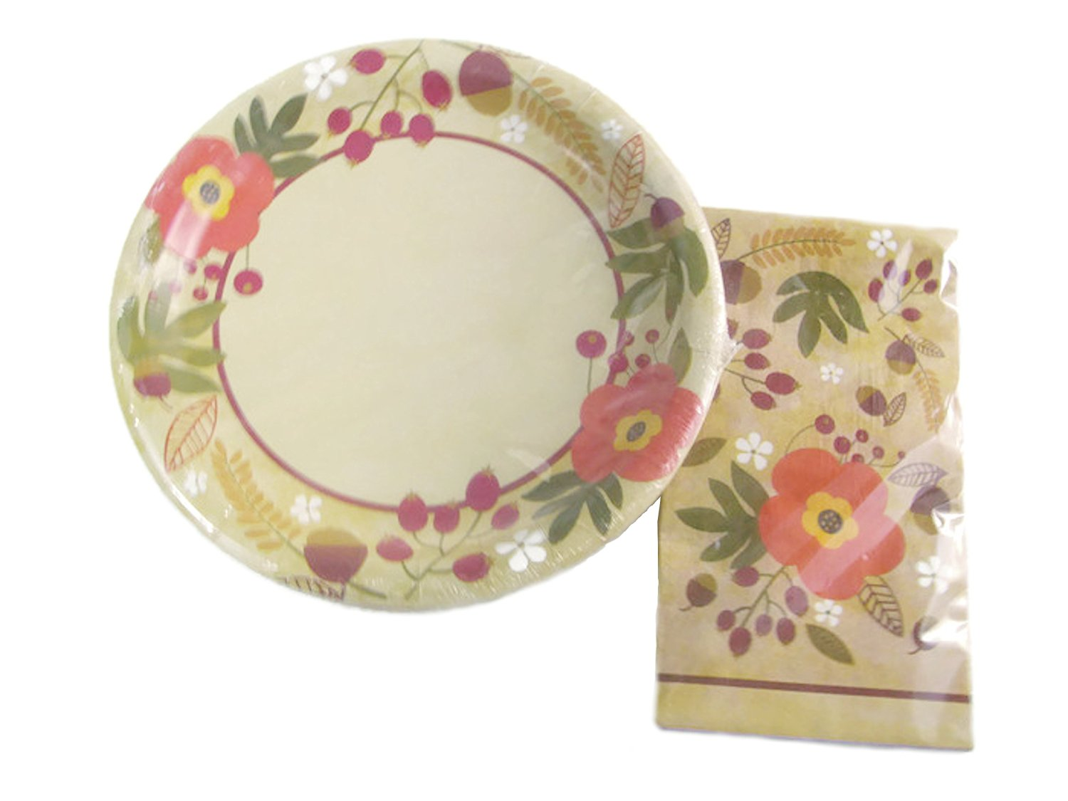 Get Quotations · Autumn Blossom Leaves Foliage Party Paper Plates and Dinner Napkins  sc 1 st  Alibaba & Cheap Autumn Plates find Autumn Plates deals on line at Alibaba.com
