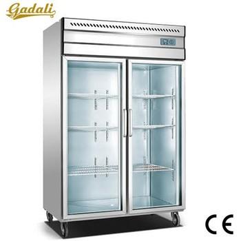 Fast Cooling Fridge Freezerused Glass Door Freezersupermarket