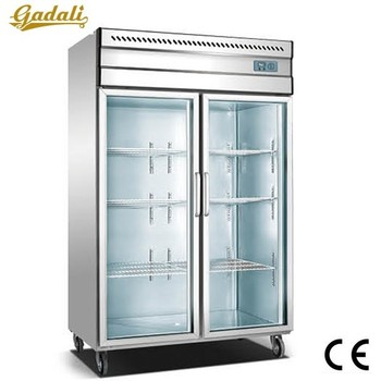Fast Cooling Fridge Freezer Used Glass Door Freezer