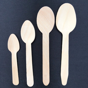 Russian 110 mm disposable wooden spoon