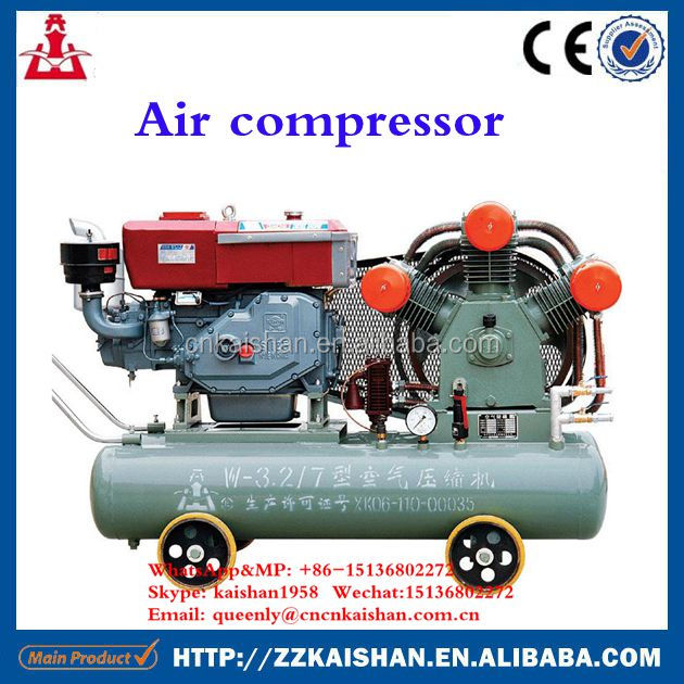 diesel portable conpressor air compressor head with 3 cylinder piston mining used for sale