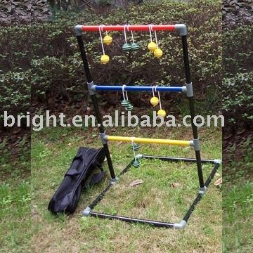 Ladder golf game outdoor game with PPR frame,ball toss,blongo ball