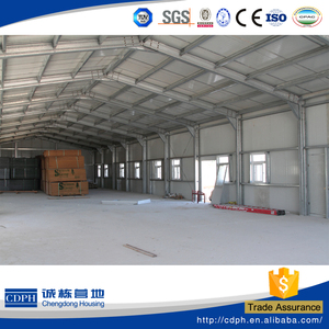 China supplier galvanized steel structure prefabricated steel building/workshop/hanger/warehouse/factory