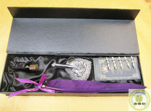 Customized Design Purple Ostrich Feather Quill Pen/ Goodluck Feather Pen Set