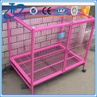 ISO9001 outdoor dog cage with wheels and large size dog cages for outdoor