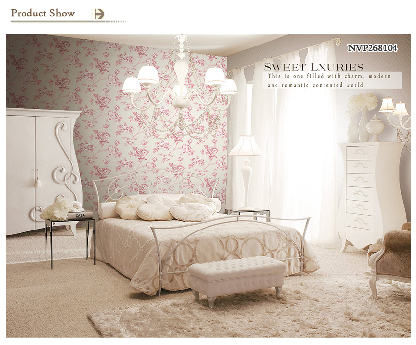 Modern Slaapkamer Behang : Pastel bloemen moderne stijl non woven behang voor slaapkamer