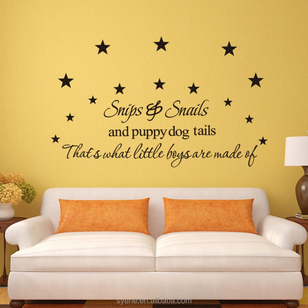 3d Wallpapers Home Art Vinyl Custom Kids Room Decoration Quotes ...