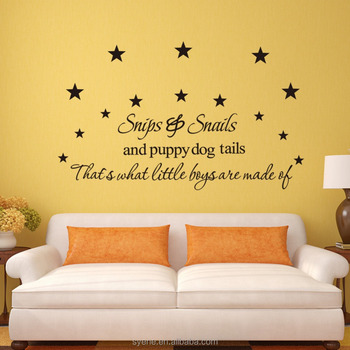 3d Wallpapers Home Art Vinyl Custom Kids Room Decoration Quotes Snails  Words Mural 3d Kids Room