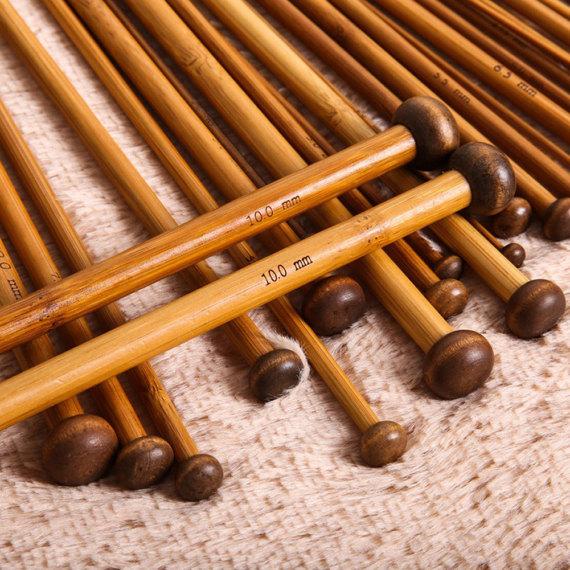 Charmkey knitting needle single point bamboo knitting needle
