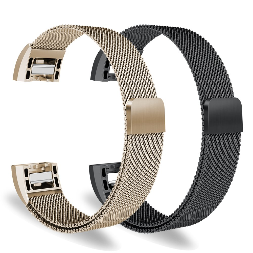 "Oitom for Fitbit Charge 2 Accessory replacement Band,(2 Size) Large 6.7""-9.3"" Small 5.1""-6.7"" 2 PACK"
