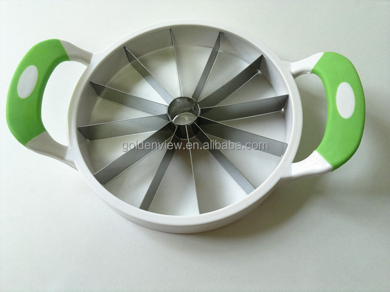 fruit cutter slicer corer for watermelon hami melon pinapple with silicone antiskid ears handles kitchen utensils fruit tools