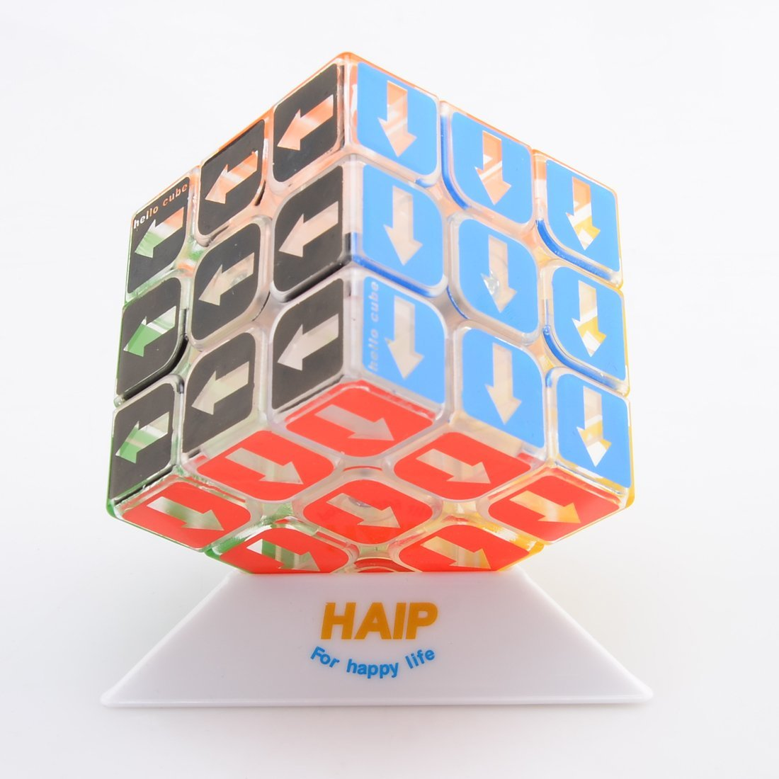 Puzzle Cube, Haip 3x3x3 Arabic Arrows Square Speed Cube Magic Cube (Base Holder/Bag Included) (Arrows Direction)