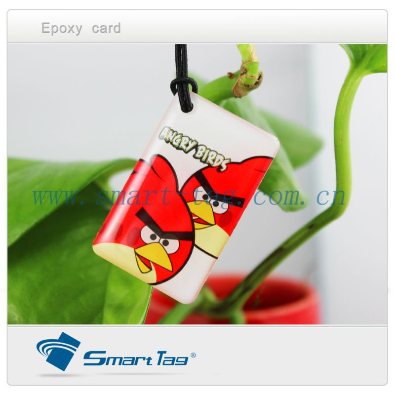 High quality RFID jelly card /proximity epoxy card accept customized design