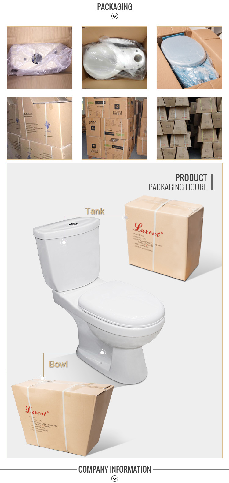 New Arrival Washdown S-trap Floor Mounted Top Button Two Piece Toilet