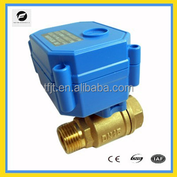 DC3.6V 2-way Brass 3/4 inch CR01 (2wires reverse polarity operation)Female-male motorized control valve