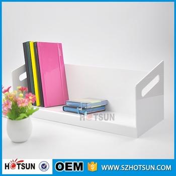 Modern Bookshelf Glass Bookcase Acrylic