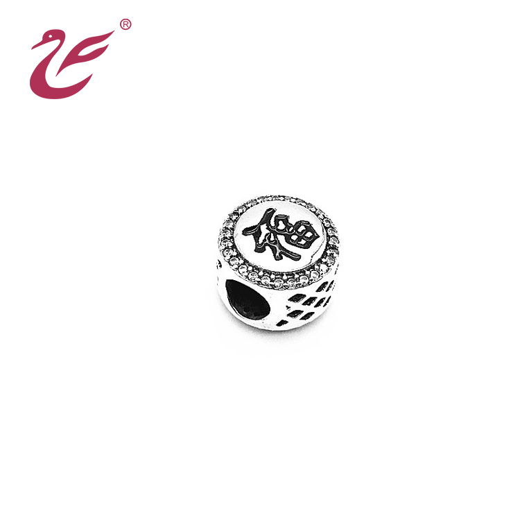 2019 New design fashion jewellery bead landing diamante bead charms for DIY bracelet