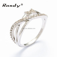 Fashion 18k White Gold Plated AAA Crystal CZ Women Bridal Wedding Jewelry Ring