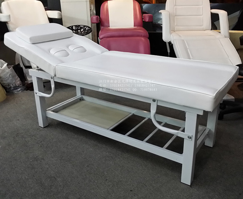 Good quality breast hole metal massage bed for beauty salon furniture