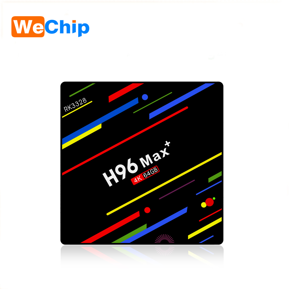 Wechip fabbrica l'ultimo Android tv H96 Max + Android tv box rk3328 chipset set top box con controllo vocale