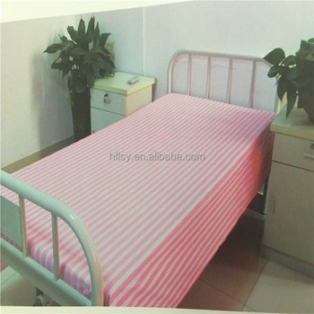 Wholesale Cheap Single Size 100% Cotton Hospital Bed Sheet Stock