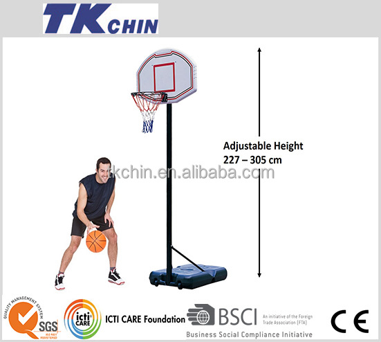 Official standard international basketball stand/hoop/system