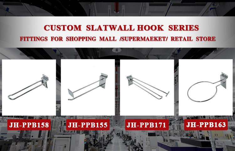 J & H Storefixture Supermarkt Beugel Staal Slatwall Plank Beugels voor Houten Planken