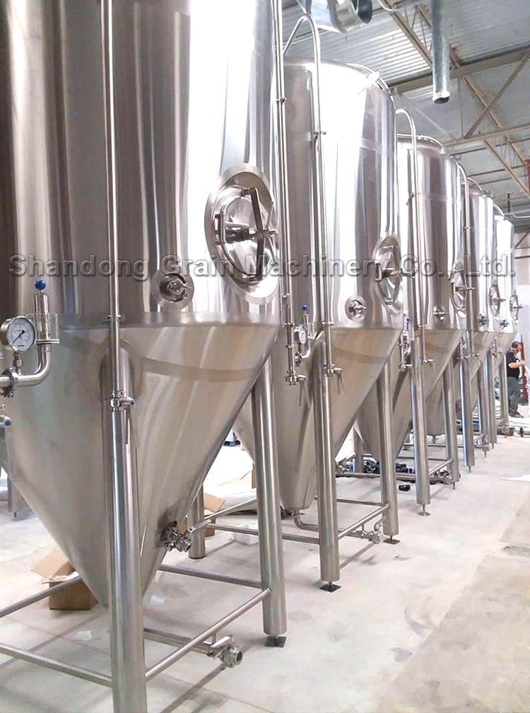 Beverage Machinery 30 BBL 3500L 35HL Fermenter Beer Fermenting Equipment Copper Tanks