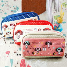 Kawaii Pura Girls Pen Pencil Bag For School Pouch Case Pack Pendant Cosmetics & Beauty Pouch Bag Coin Purse Student  Kids Gifts