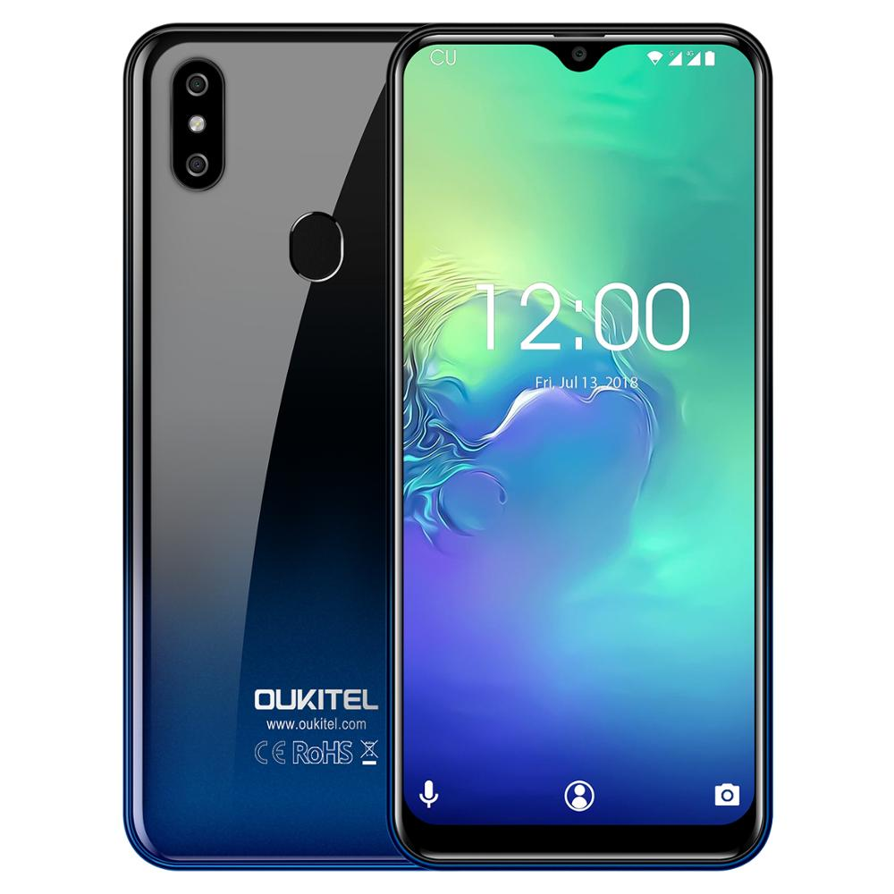 Oukitel C15 Pro 2GB 16GB Android 9.0 Mobile Phone MT6761 Fingerprint Face ID 4G LTE Smartphone Water Drop Screen Cell Phone
