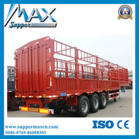 high quality Tri-axle Fence Semi-trailer Warehouse Semi Trailer Sale low price