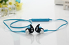 Bluetooth earphone with flat cord, Bright colour sport earphone