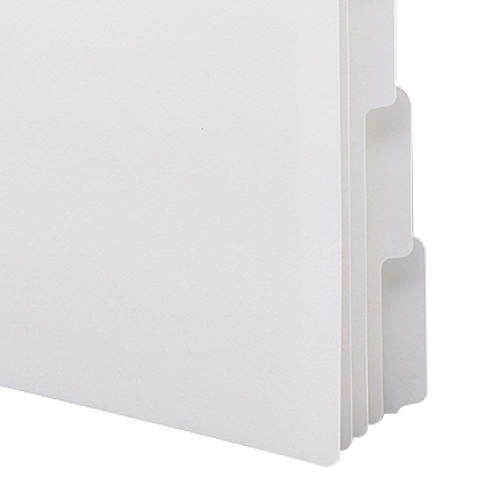 Smead Three-Ring Binder Index Dividers, 1/5-Cut Tabs, Letter Size, White, 5 per Set, 20 Sets per Box (89415) (3 BOXES)