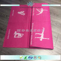 Popular easy to clean yoga high quality 6mm pvc folding gym/exercise mat