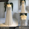 china wholesale illusion back flowing chiffon beach wedding dresses