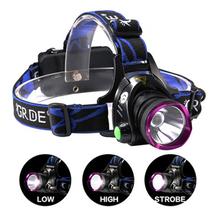 Zoom T6 Waterproof Head Lamps 3 Modes Camping Led Head Light 18650 Headlamp Head Torch Headlamp Made In China