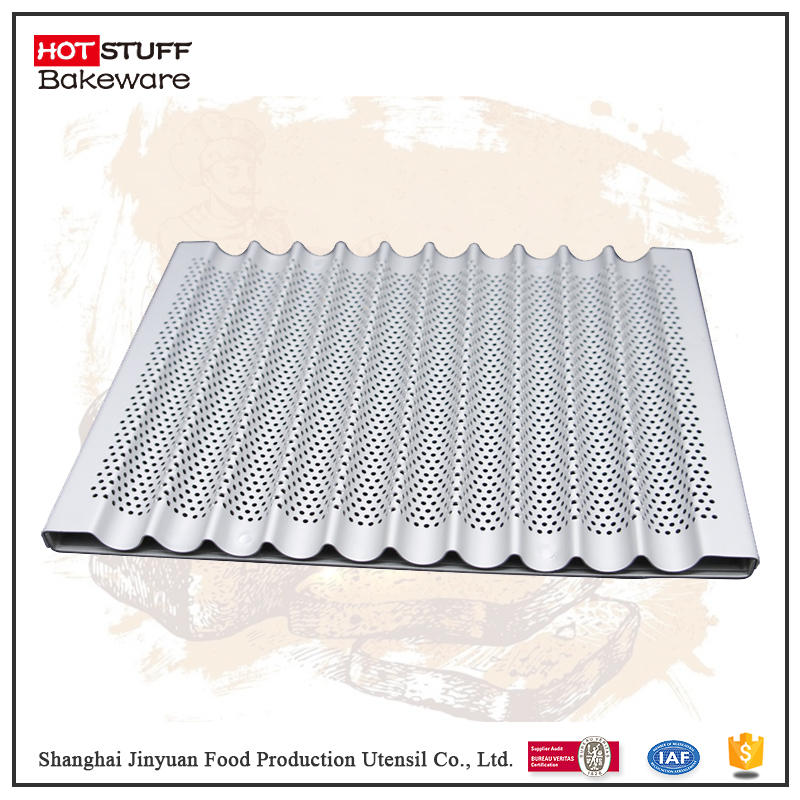 Perforated french bread loaf baking tray pan baguette baking tin sizes