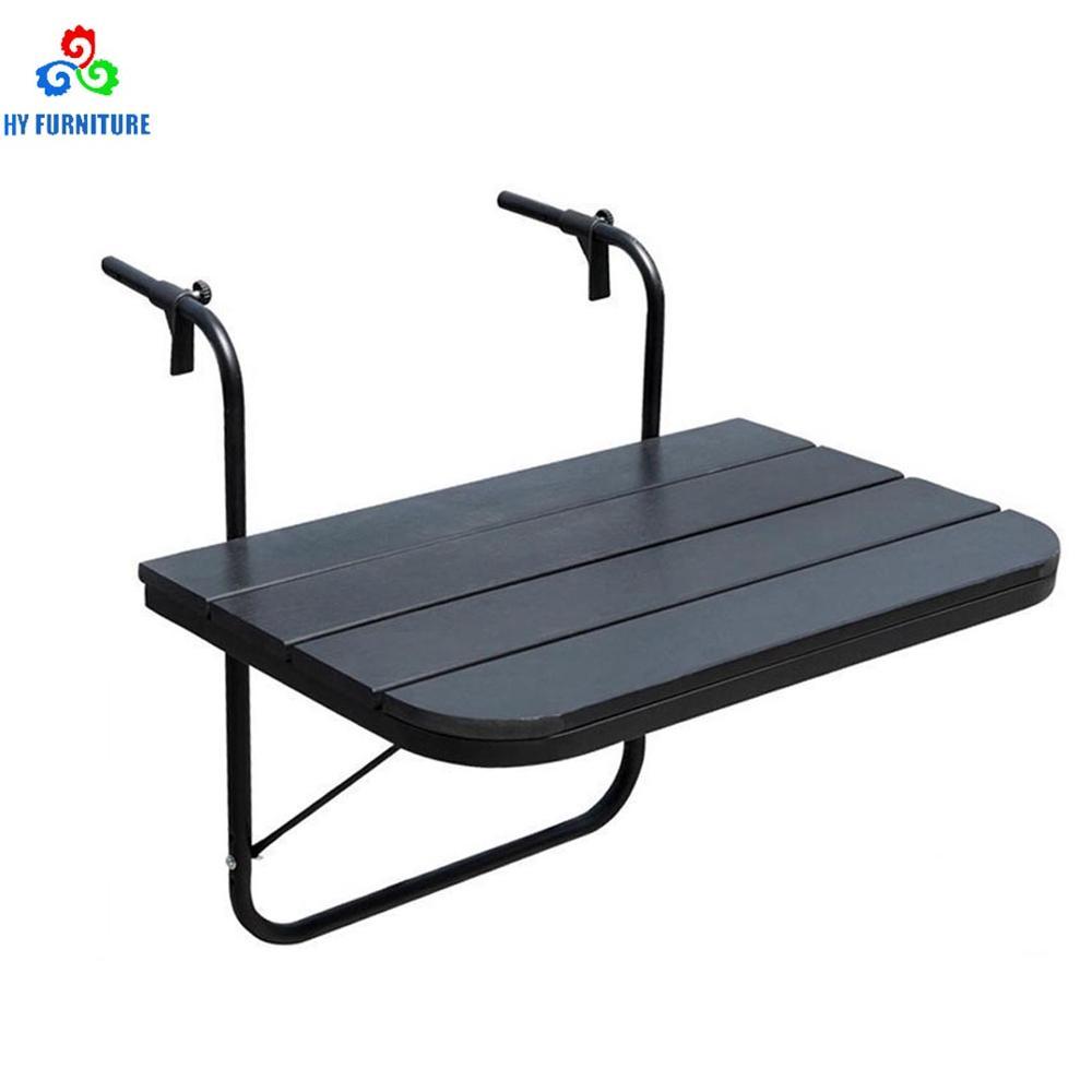 Adjustable Outdoor Garden Table Balcony Patio Railing Hanging Table