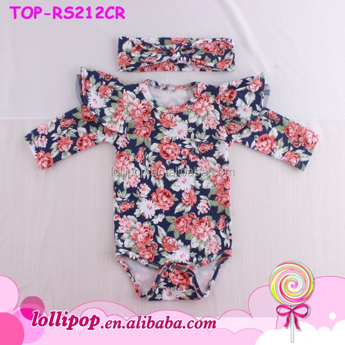 9c63505a8d1c Triple Ruffle Icing Romper Girl Cotton Flutter Sleeve Baby Onesie Wholesale  Arrow Overall Shortall Summer Toddler