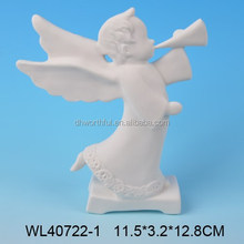 High quality ceramic angel home ornament,white porcelain for LED light