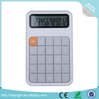 Hot Sales Plastic Material Metallic Surface 12 Digital Long Digit Calculator with Leather Case