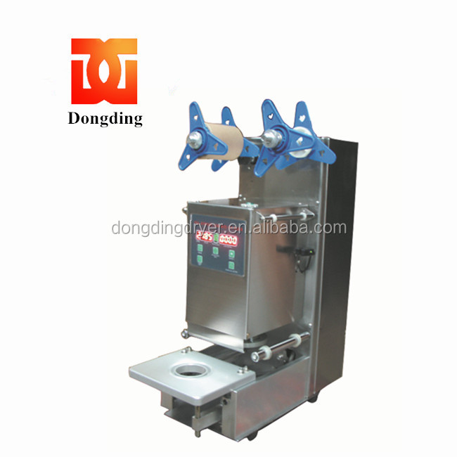 stainless steel body Automatic topseal herb tea / porridge cup sealing machine