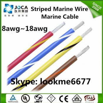 White & Blue Spiral Striped Wire 22awg Power Cable - Buy Striped ...