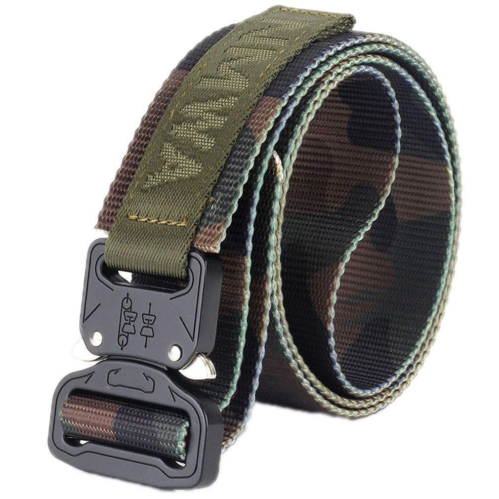 FCNHXJ Camouflage Military Equipment Tactical Belt Men Combat Knock Off Army Belt Heavy Duty Paintball Waist Belt