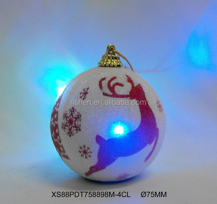 Cheap Hanging LED Outdoor Ornaments Plastic Christmas Balls