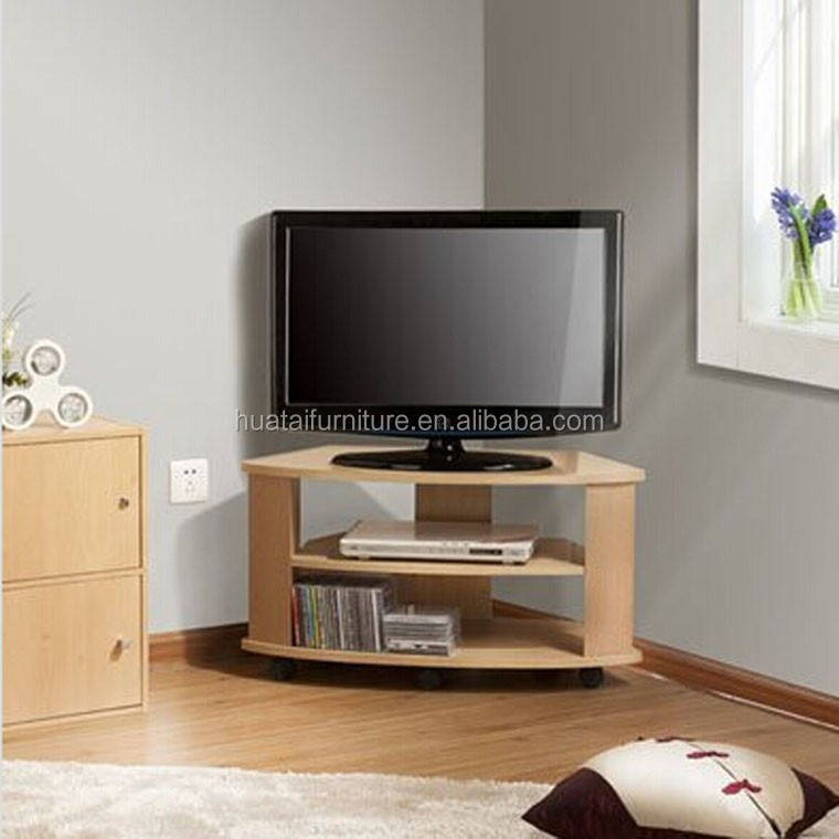bois design coin meuble tv t l vision stands salon meuble d 39 angle avec roue meubles en bois id. Black Bedroom Furniture Sets. Home Design Ideas