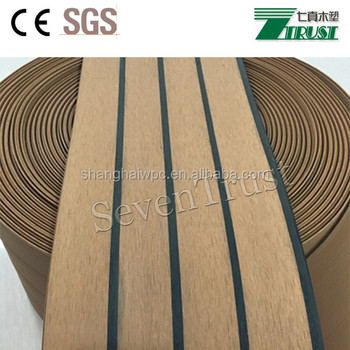 Immitate Teak Wood Deck For Boat,Ce,Sgs,Soft Pvc Floor - Buy Plastic Teak  Decking,Yacht Deck,Outdoor Decking Product on Alibaba.com